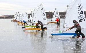 Ice Boats on Lake Kegonsa