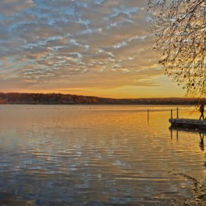 Lake Wingra, in Madison, Wisconsin as the sun was going done one day in November, 2013