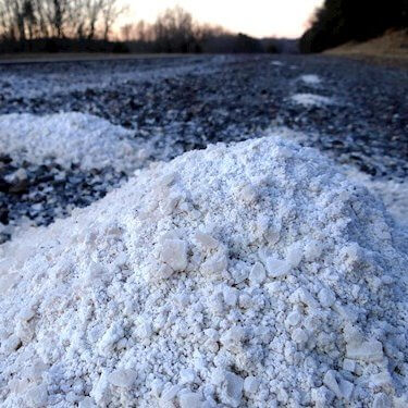 Salt Pile on Road