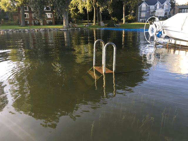 Flooding occurred late in the 2018 water quality monitoring season