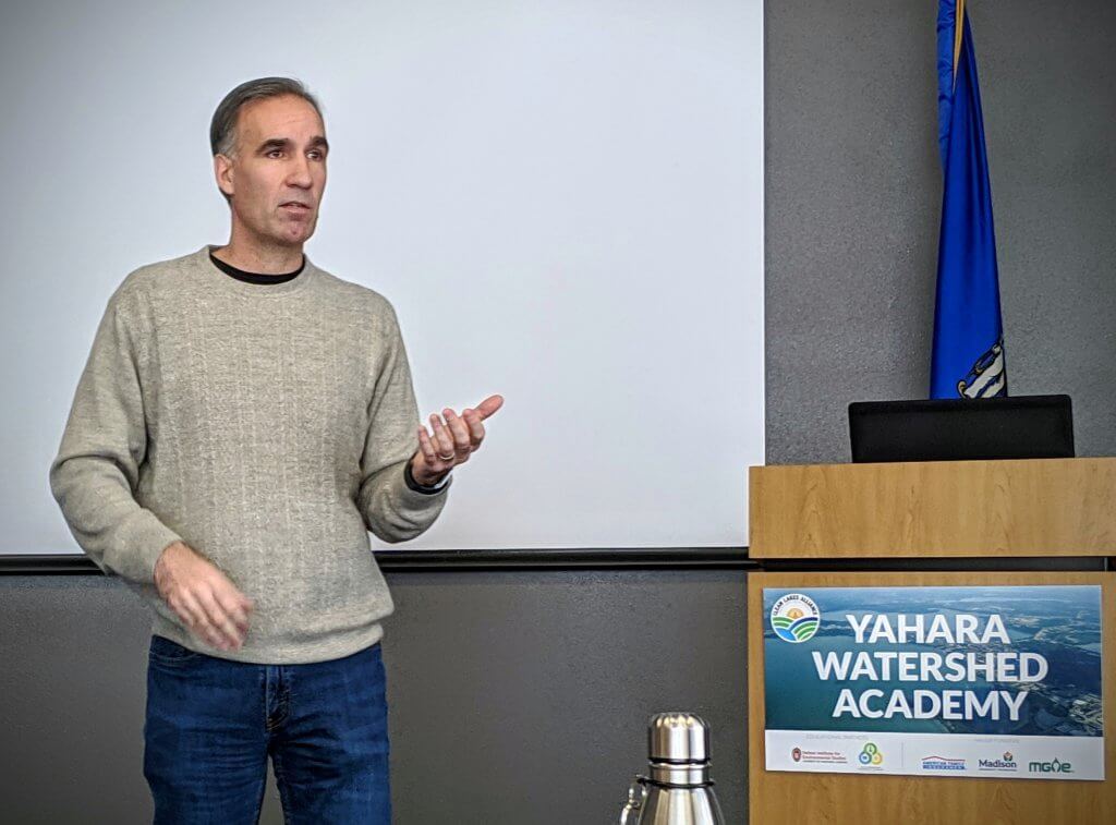 Chris Kucharik presents at the 2019 Yahara Watershed Academy