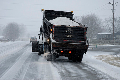 DOT truck winter salt