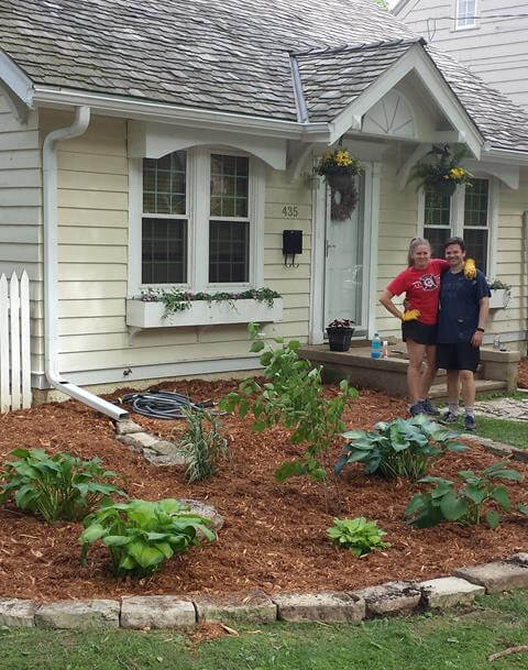 Anna & Jesse Ganz are Madison residents who built a rain garden